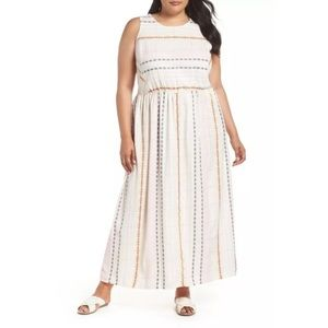 Caslon Cotron Embroidered Maxi Dress